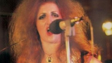Carol Lloyd performs with Railroad Gin in 1974.