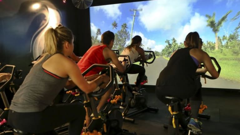 Pressing on in Hawaii, via Scenic Cycle's Sydney spinning studio.