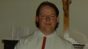 John Roach as an altar boy.