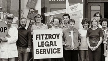 The Fitzroy Legal Service circa 1980; Sam Biondo is fifth from left.