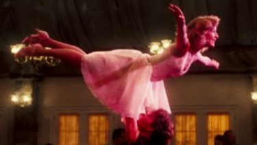 Jennifer Grey and Patrick Swayze in <i>Dirty Dancing</i>.