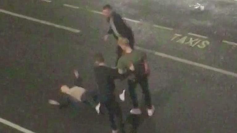 A CCTV still of the incident in Bristol.
