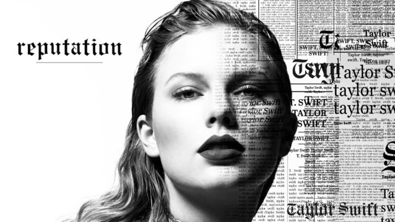 Swift on the cover of her new album, Reputation.
