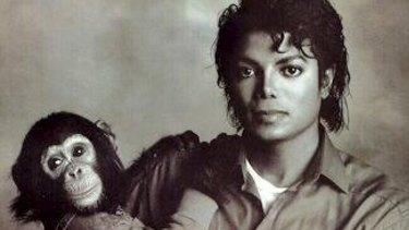 Michael Jackson with Bubbles.