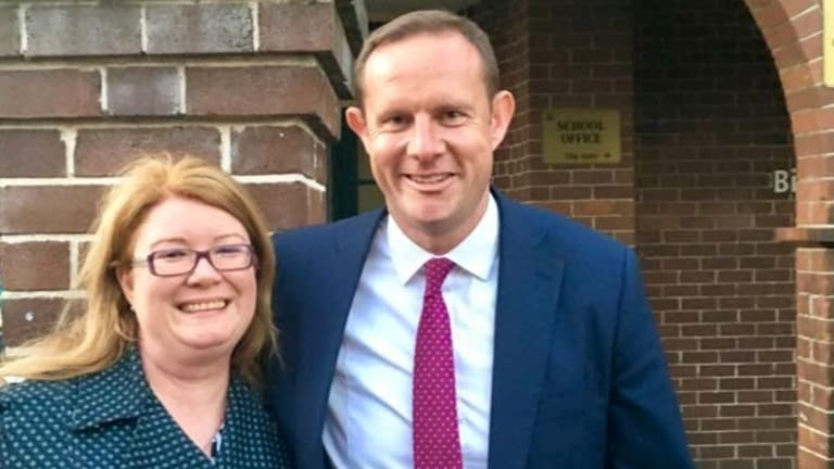 Labor's Darcy Byrne, with running mate Linda Kelly, during his campaign for the Inner West council.