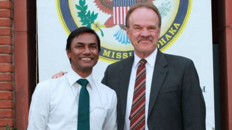 Xulhaz Mannan, pictured left, was murdered in Bangladesh on Monday.