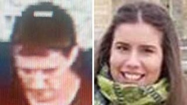 The CCTV footage of Sean Price, which led to his arrest over the murder of Masa Vukotic (right).