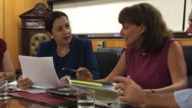 Premier Annastacia Palaszczuk with Townsville Mayor Jenny Hill.