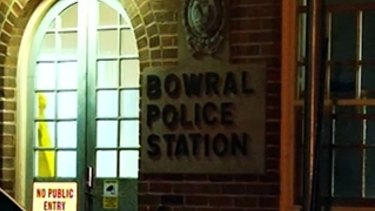 Bowral police station, where a man died after he was Tasered at a McDonald's.