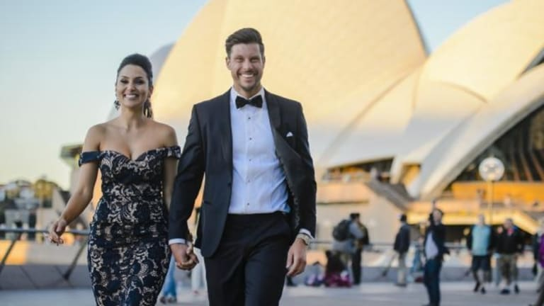 Melbourne's Sam Wood and new love, Perth-based Snezana Markoski (in Sydney, go figure).