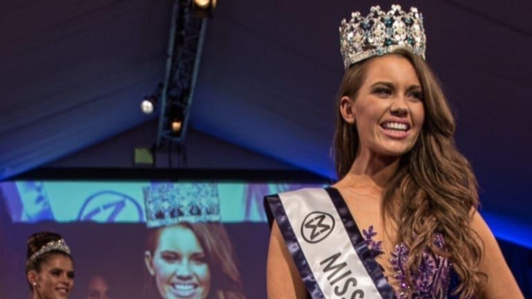 Miss World Australia 2014 winner Courtney Thorpe.