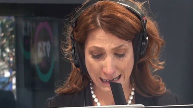 """Robin Bailey tells 97.3 FM listeners of the """"catastrophic"""" fallout of her husband's suicide."""