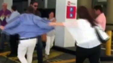 Rob Culleton was involved in the scuffle outside Perth Magistrates Court on Tuesday.