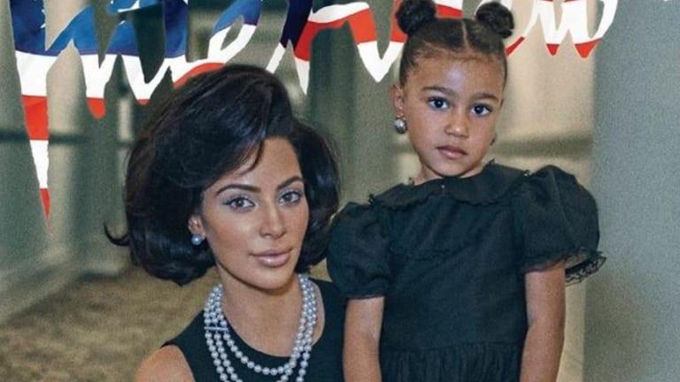North West and Kim Kardashian in Vogue.