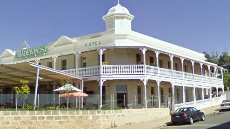 History has seen a number of Perth suburbs change their names. Pictured is the Tradewinds Hotel in East Fremantle, which used to be called the Plympton Hotel.