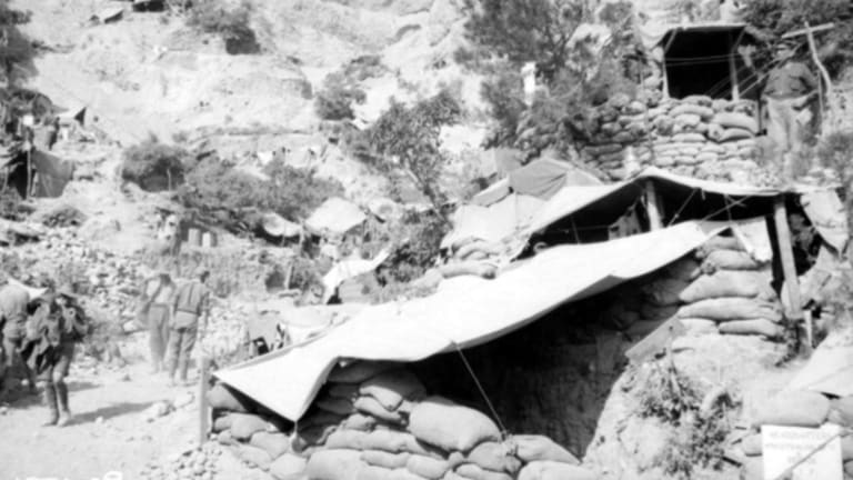 General Monash's Gallipoli headquarters at Rest Gully.