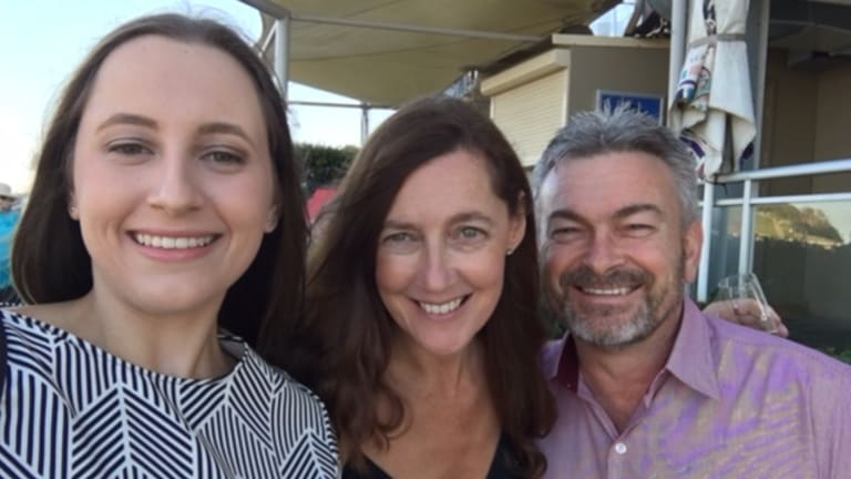 Karen Ristevski with her husband, Borce, and daughter, Sarah.