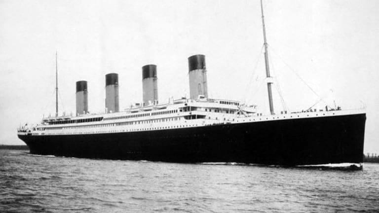 The Titanic leaves Southampton on April 10, 1912.