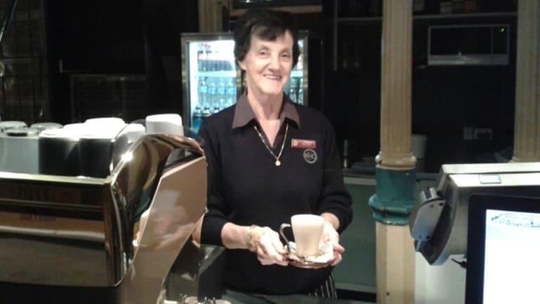 The Breakfast Creek Hotel's oldest employee, 70-year-old Aileen Collins.