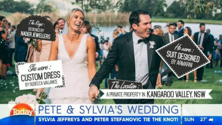 The Today show helped flog the wedding vendors on Monday morning.