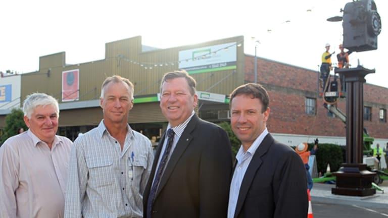 Cr Duncan McInnes, Cr Rick Stanfield, CEO Craig Barke and Mayor John Brent.