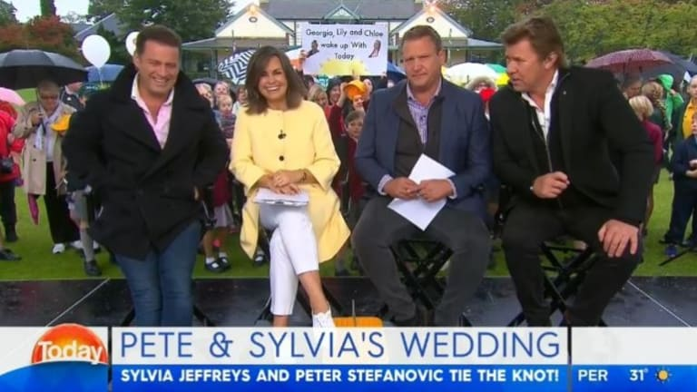 Karl Stefanovic, Lisa Wilkinson, Tim Gilbert and Richard Wilkins.