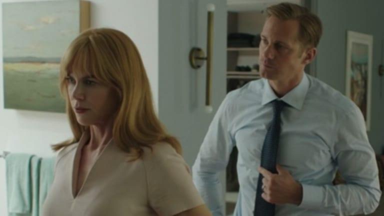 Nicole Kidman with her on-screen husband Alexander Skarsgard in Big Little Lies.