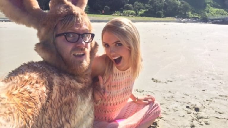 """Selfie saviour: counselled by a hipster in a bunny """"onesie""""."""