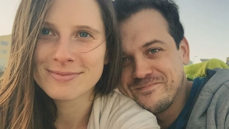 Chantelle Baxter with her partner Patrick Moreau.