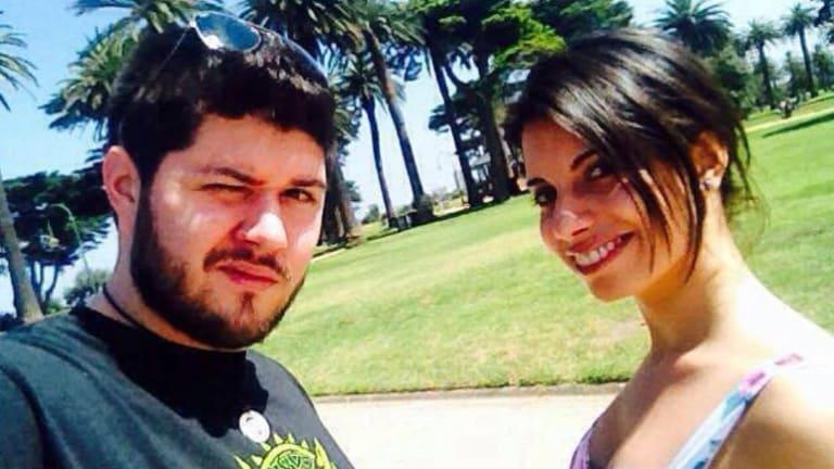 Alberto Paulon and his fiancee Cristina Canedda.