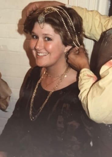 Sara Verge as Patient Griselda in Top Girls at Mitchell College in 1984.
