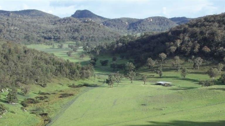 A farming property at the top of the Barigan Valley, near Bylong and Wollar. Most of the valley is owned by Peabody for its Wilpinjong mine.