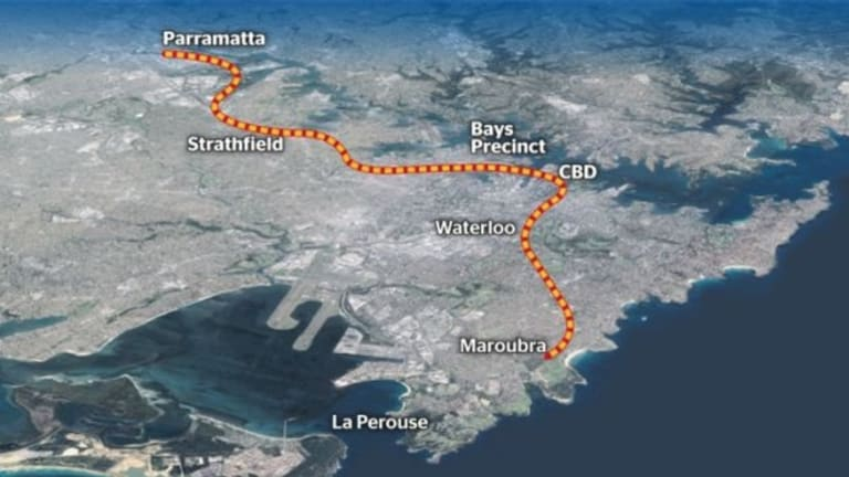 The alignment of the Parramatta to Sydney CBD West Metro line has not been revealed. The line is likely to be extended eventually to the eastern suburbs.