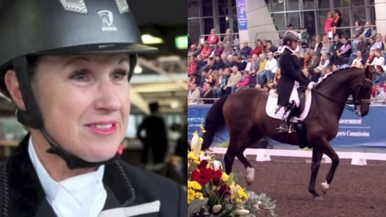 """An """"administrative sanction"""" was imposed on Sue Hearn and her horse."""