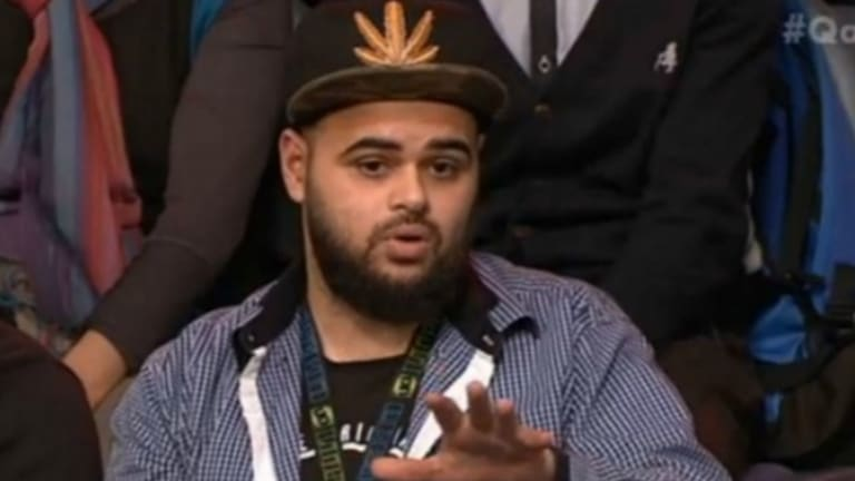 Zaky Mallah on ABC on Monday night.