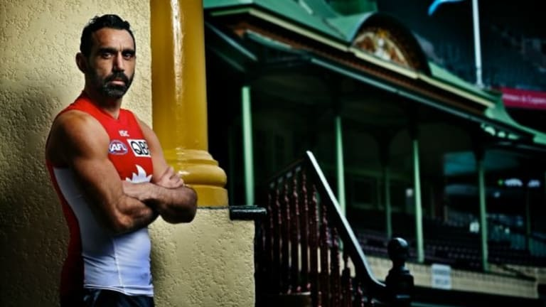Sydney Swans player Adam Goodes has been restrained in the face of this repulsive treatment.