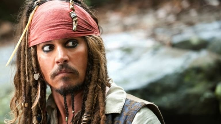 Johnny Depp as Jack Sparrow in <i>Pirates of the Caribbean</i>. Piratically, Depp brought dogs into Australia illegally.