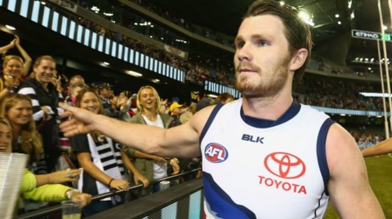 On the move: Patrick Dangerfield is leaving the Crows.