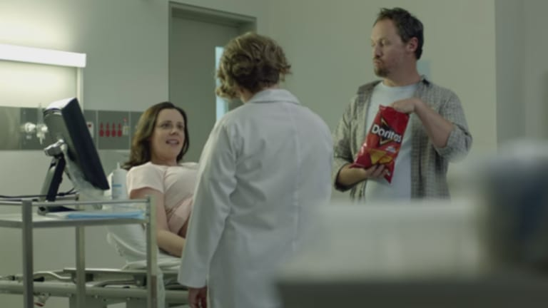 A scene from Peter Carstairs' Doritos commercial.