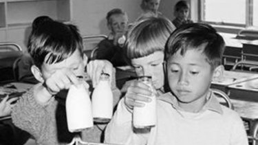 The 1970s school milk program