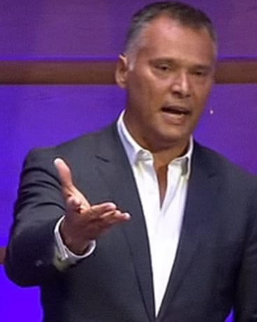 Stan Grant delivers a speech on racism