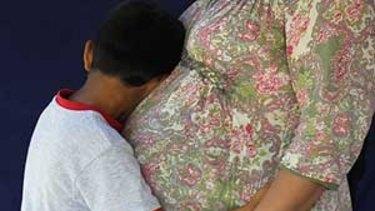 An Iranian family in detention on Nauru.