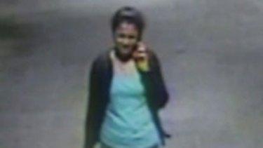 CCTV shows Prabha Arun Kumar minutes before the fatal attack.