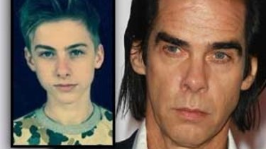Nick Cave and his son Arthur Cave, inset. His new album, Skeleton Key, is suffused with the sadness of losing his son