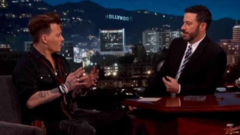 Kimmel told Depp he was reassured to know the US was not the only stupid country.