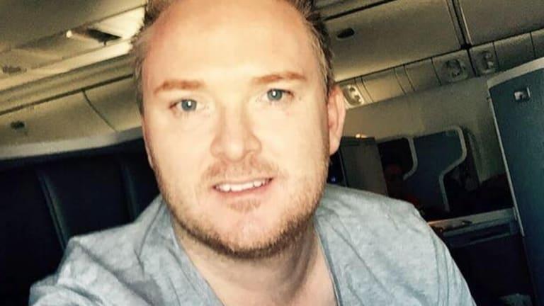 Australian man Brian Hodge ran for his life as a gunman began shooting in Las Vegas.