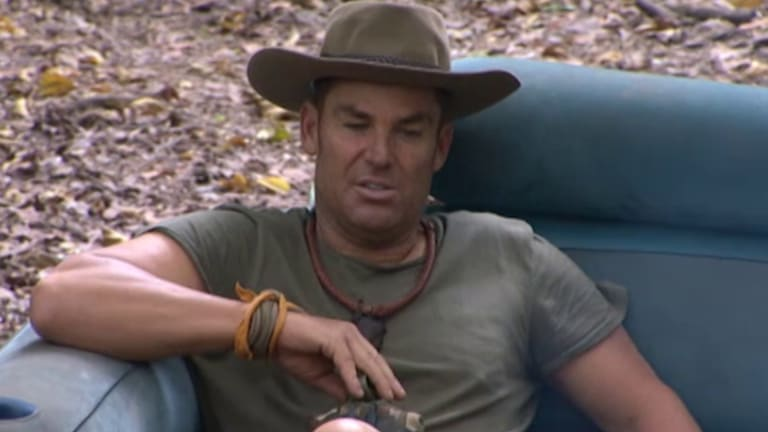 Shane Warne has been allowed to smoke away from the cameras.