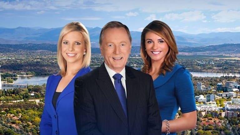 Geoff Phillips, Amy Duggan and Hannah McEwan present the Canberra bulletin of WIN News.