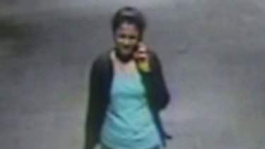 CCTV shows Prabha Arun Kumar walking out of Parramatta train station on March 7, 2015.