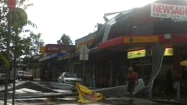 Villawood shops have been damaged in the storm.